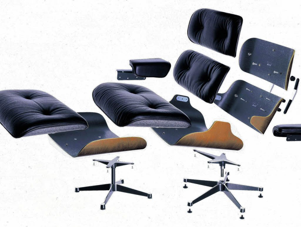 vitra lounge chair von charles und ray eames der. Black Bedroom Furniture Sets. Home Design Ideas