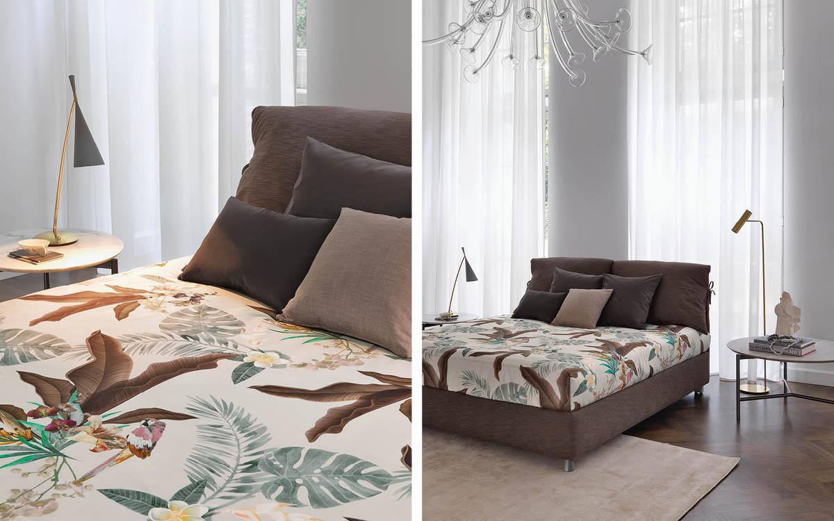 Nathalie Bett von Flou: das Urmodell aller textilen Betten ...