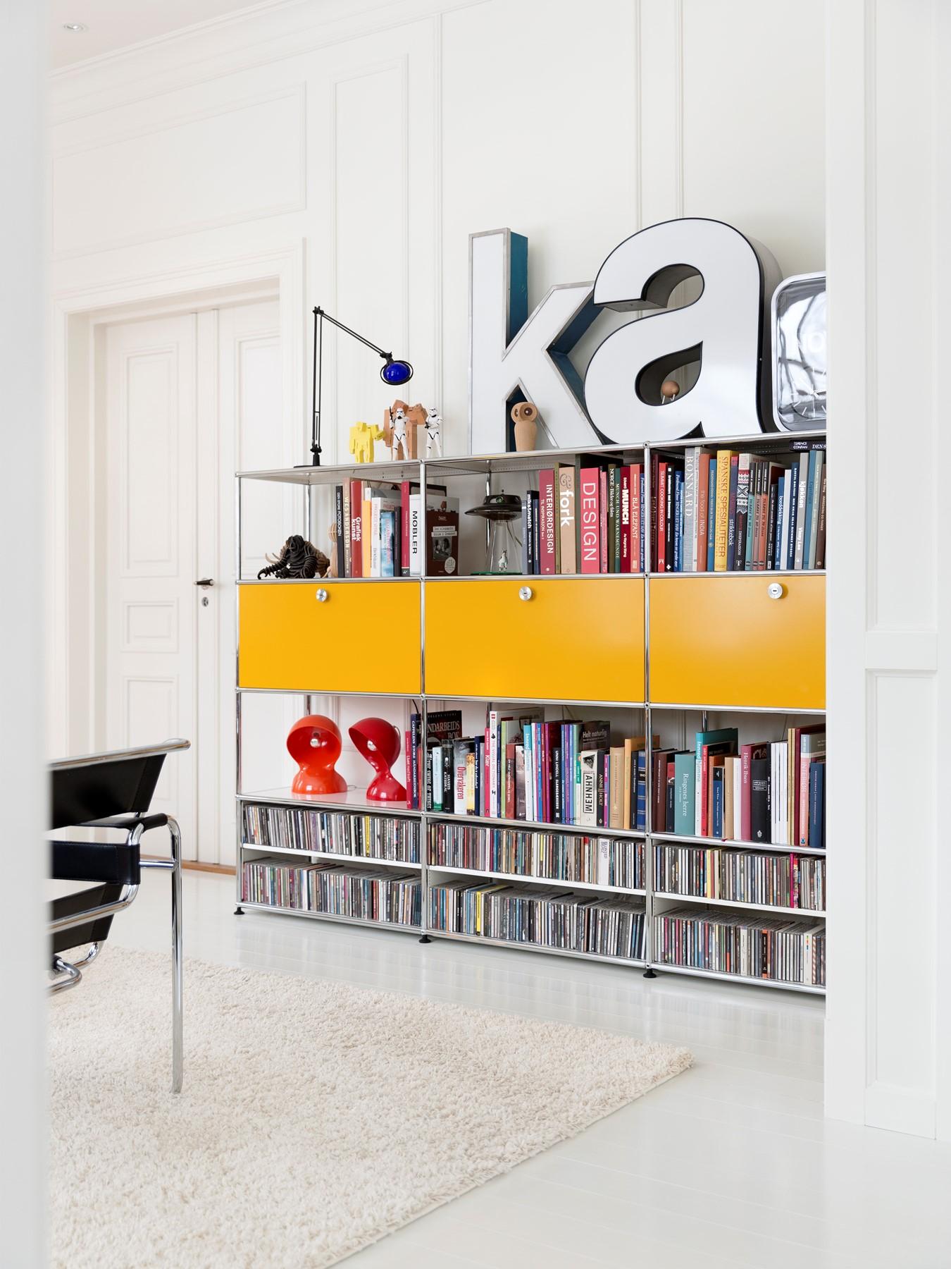 mit usm haller die perfekte bibliothek f r ihr zuhause gestalten bruno wickart blog. Black Bedroom Furniture Sets. Home Design Ideas