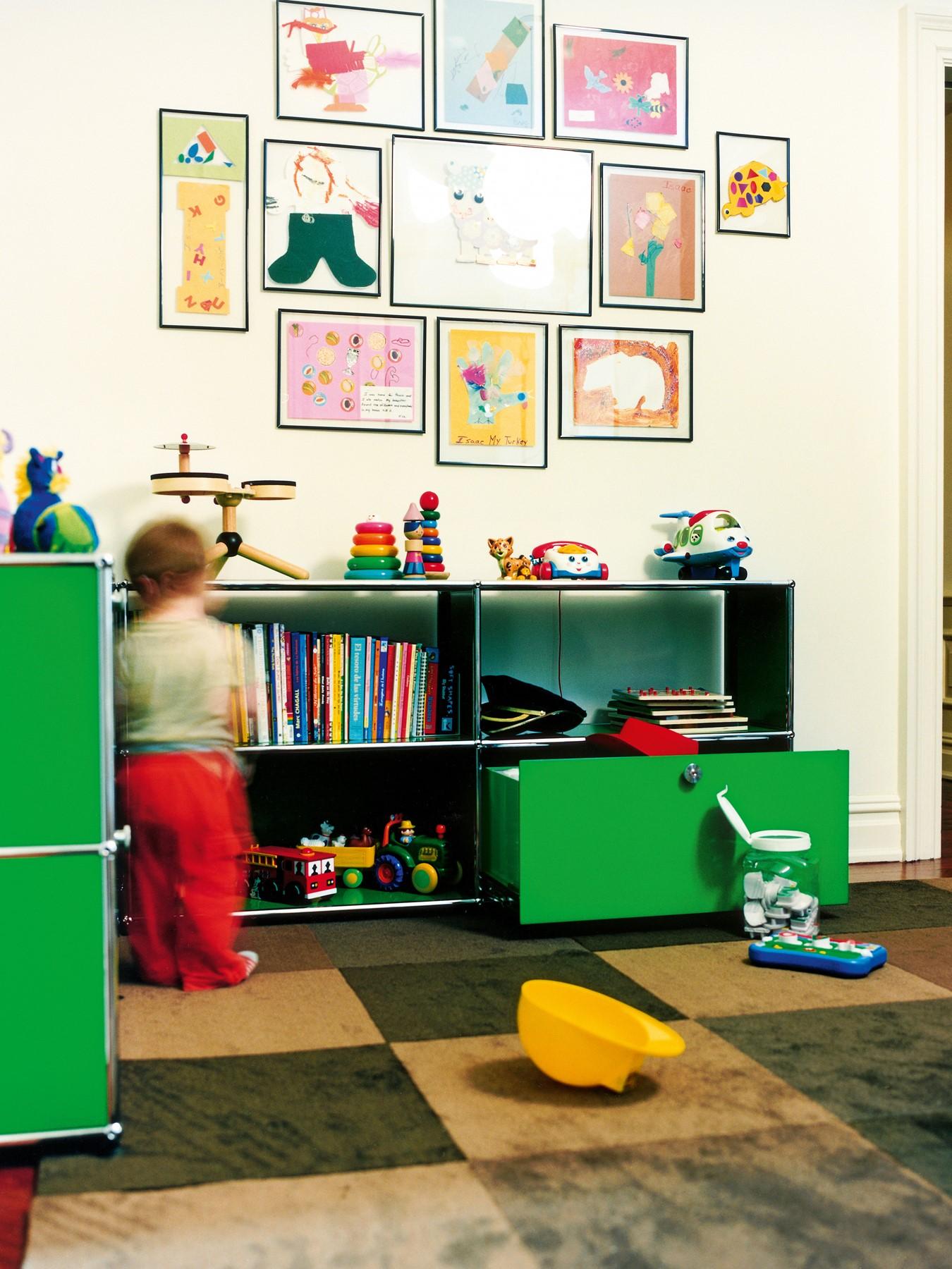 mit usm haller m bel aufbewahrungsl sungen f r spielzeug die ihre kinder lieben bruno. Black Bedroom Furniture Sets. Home Design Ideas