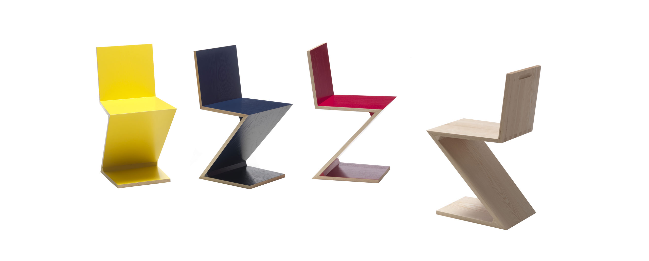 Inspiration bauhaus gerrit thomas rietveld zig zag for Design stuhl zig zag