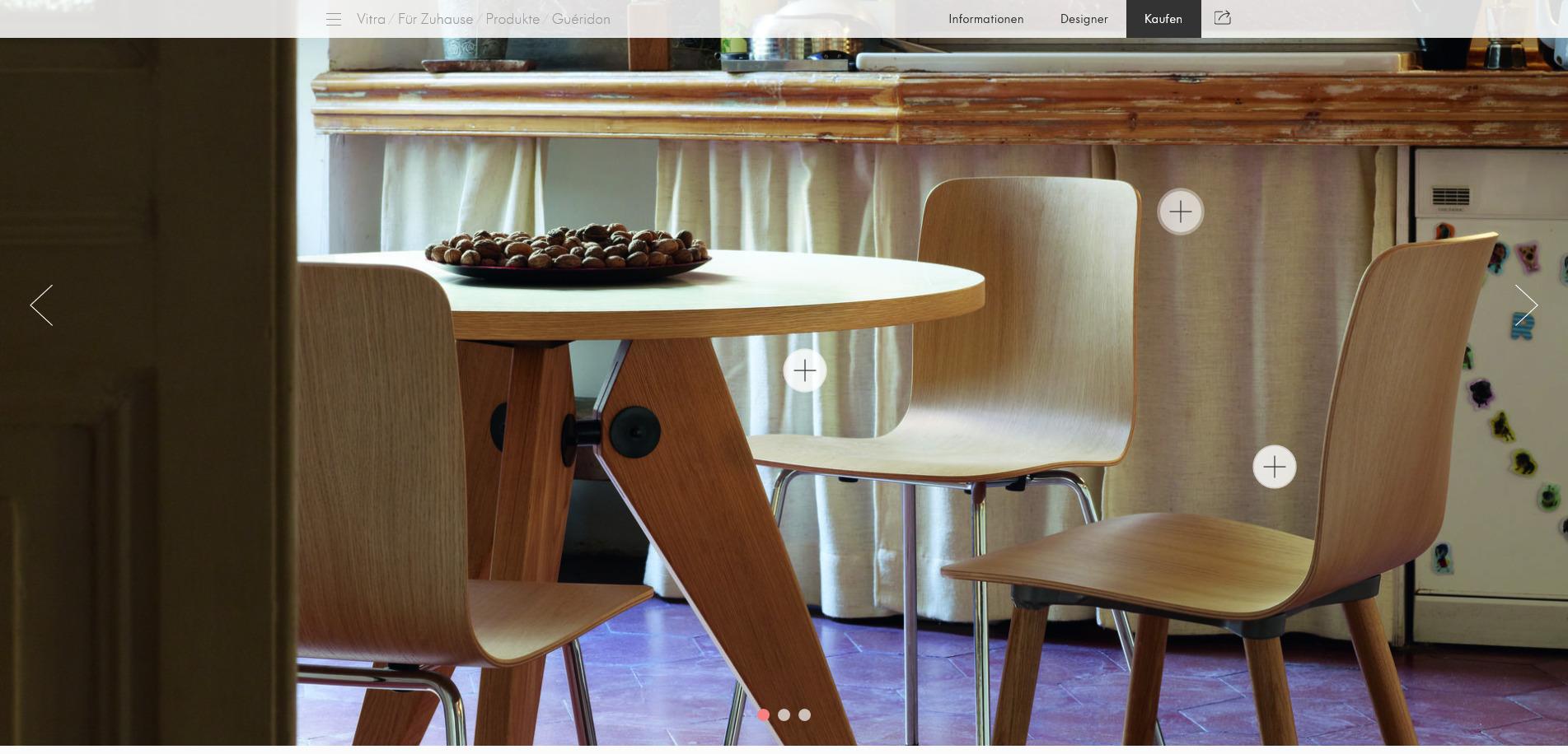 Inspiration Bauhaus Jean Prouve Gueridon Tisch