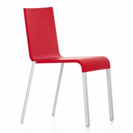 Image of .03 Stuhl, Ausführung nicht stapelbar, Sitzschale basic dark, Untergestell pulverbeschichtet schwarz, Gleiter Filzgleiter für harte Böden