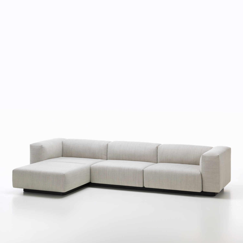 Sofa Bodennah vitra modular 3er sofa chaise longue bruno wickart ch
