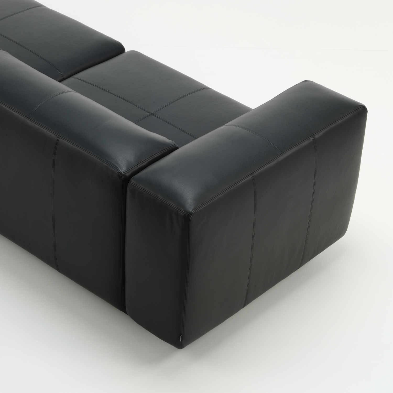 Vitra Soft Modular 3er Sofa Chaise Longue Leder bruno