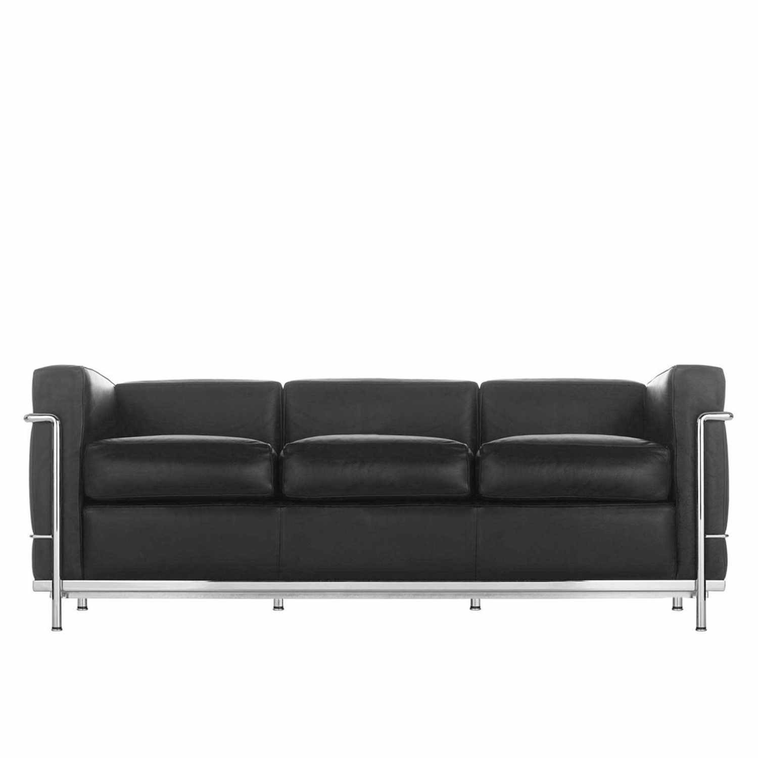 cassina lc2 3er sofa bruno. Black Bedroom Furniture Sets. Home Design Ideas