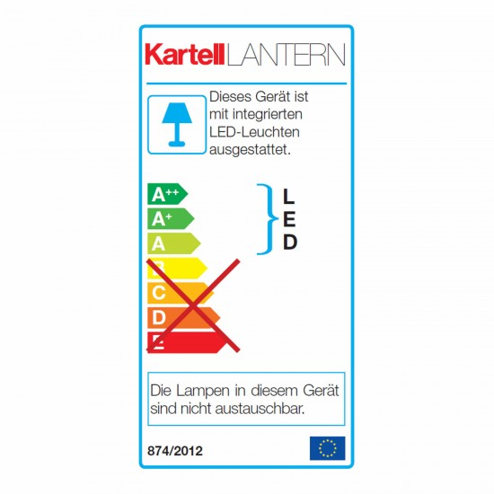 Kartell Lantern LED Akku Tischleuchte 112_09335