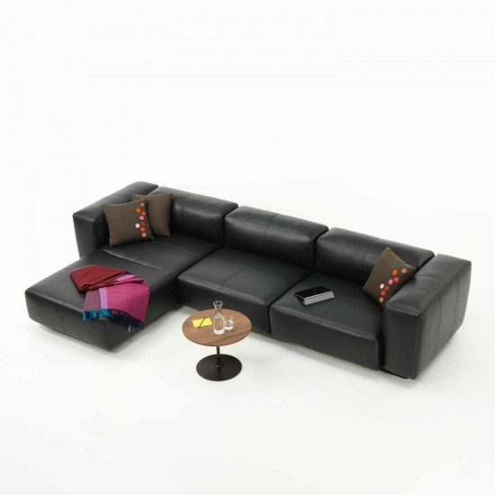 Vitra Soft Modular 3er Sofa Chaise Longue Leder 20_21040005