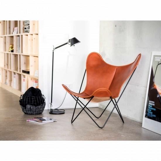 Manufaktur Plus Hardoy Butterfly Chair Blank-Leder Sessel 371_HBC_BLANK