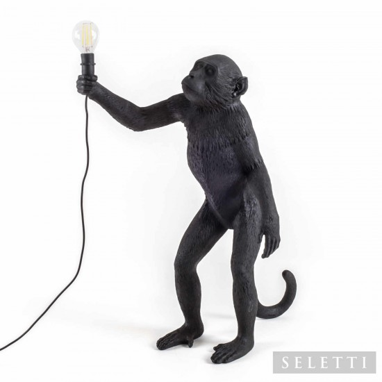 SELETTI Monkey Lamp Black LED Leuchte 379_1492X-B