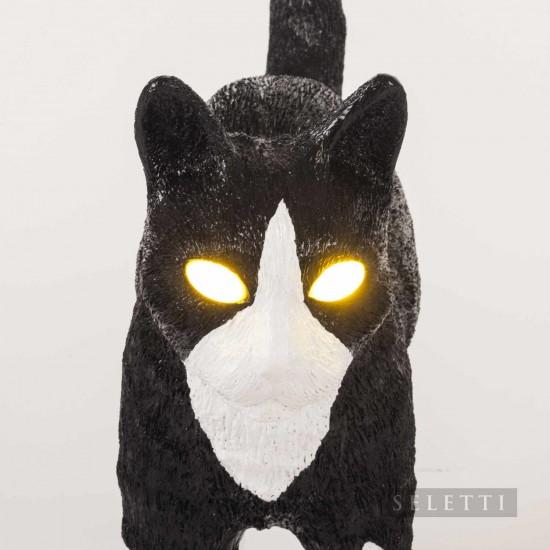 BLOW by JOBandSELETTI Jobby black and white Cat Lamp Akku-Tischleuchte 380_15042