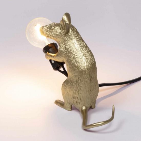 SELETTI Mouse Lamp Gold LED Tischleuchte 379_1507XGLD
