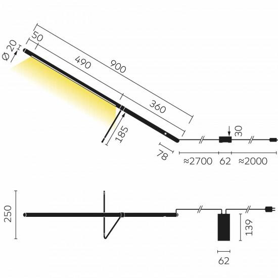 Belux Tubo LED Tischleuchte 46_TUB4011827TD