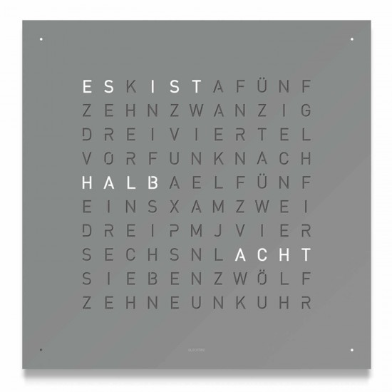 biegert und funk uhr fabulous qlocktwo gamundia the worlds biggest word clock with biegert und. Black Bedroom Furniture Sets. Home Design Ideas