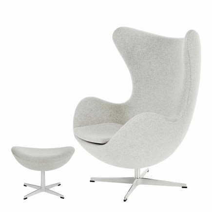 Fritz Hansen DAS EI / EGG 3316 Sessel and 3127 Fusshocker 13_3316-3127