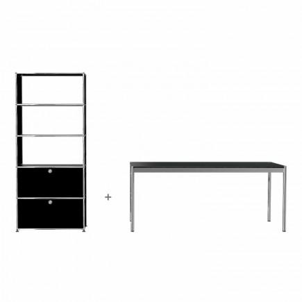 USM Haller Regal and Schreibtisch Bundle #4 1_QS_HO4