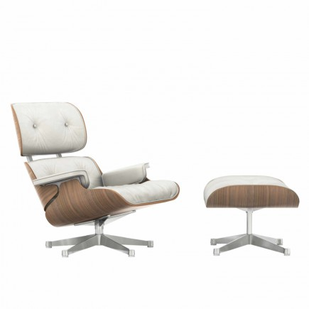 Vitra Lounge Chair and Ottoman White Edition 20_41211600