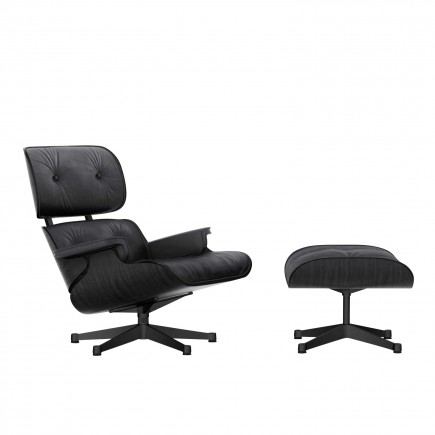 Vitra Lounge Chair and Ottoman Black Edition 20_41211900
