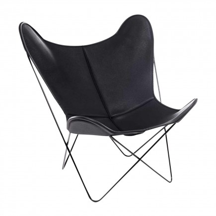 Manufaktur Plus Hardoy Butterfly Chair Neck-Leder Sessel Ausstellungsstück 371_HBC_NECK_118100_O