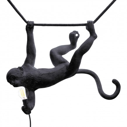 SELETTI Monkey Lamp Black LED Leuchte 379_1492X-B