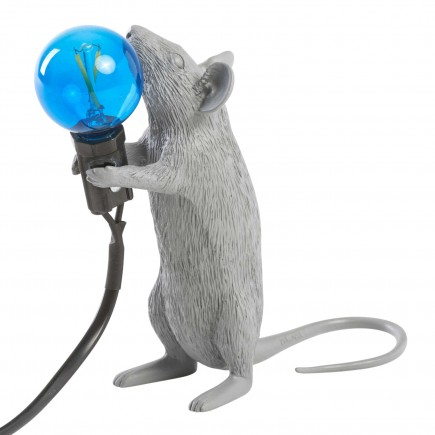SELETTI Mouse Lamp Grey LED Tischleuchte 379_1493X