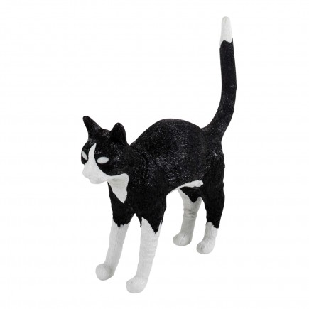 BLOW by JOBandSELETTI Jobby black and white Cat Lamp Akku-Tischleuchte 380_15042