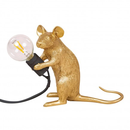 SELETTI Mouse Lamp Gold LED Tischleuchte 379_1507XGLD
