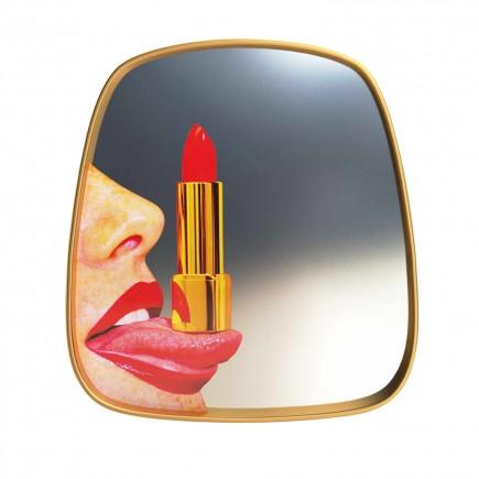 SELETTI Mirror Gold Frame Toiletpaper Spiegel 379_1708X