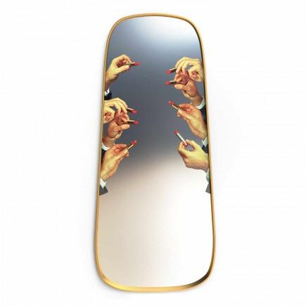 SELETTI Mirror Gold Frame Toiletpaper Spiegel 379_1709X