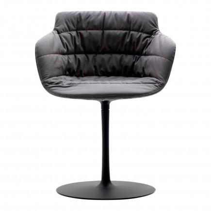 MDF Italia Flow Armchair Textil Tellerfuss Stuhl 37_F053175