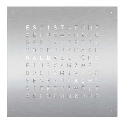 Biegert and Funk QLOCKTWO Classic Edelstahl Tisch-/Wanduhr 83_CLA-STEEL