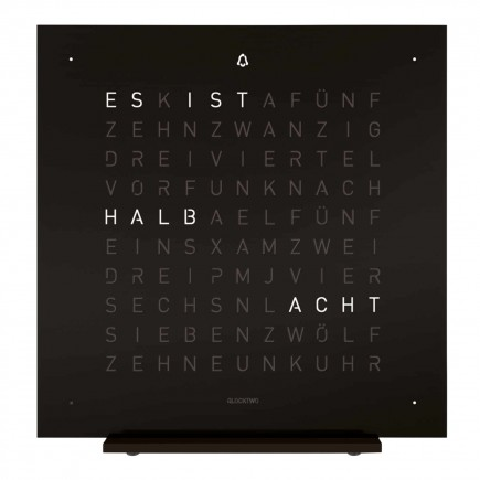 Biegert and Funk QLOCKTWO Touch Deep Black Tischuhr 83_TOU-DB