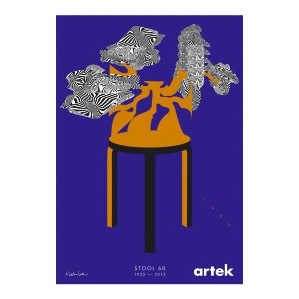Artek 80 Years Stool 60 Kustaa Saksi Poster 125_28605810