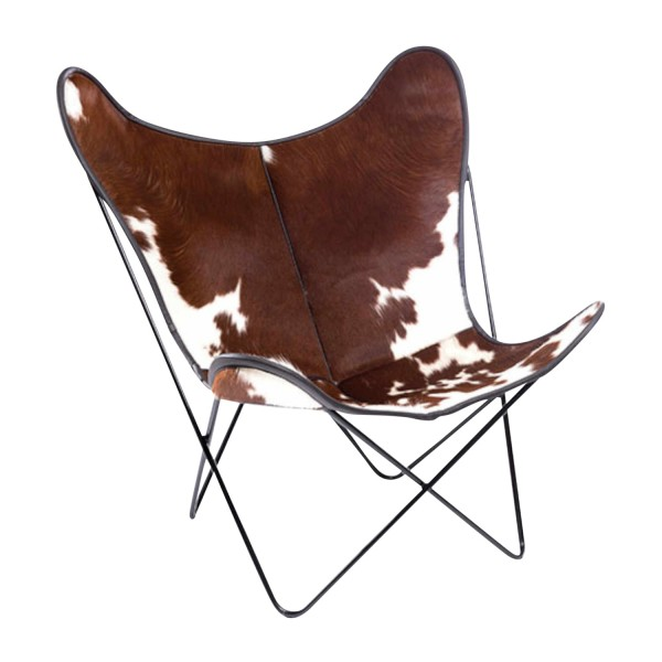 Manufaktur Plus Hardoy Butterfly Chair Kuhfell Sessel 371_HBC_KUHFELL