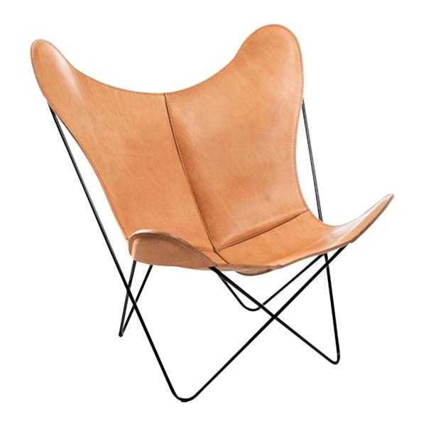 Manufaktur Plus Hardoy Butterfly Chair Sattel-Leder Sessel 371_HBC_SATTEL