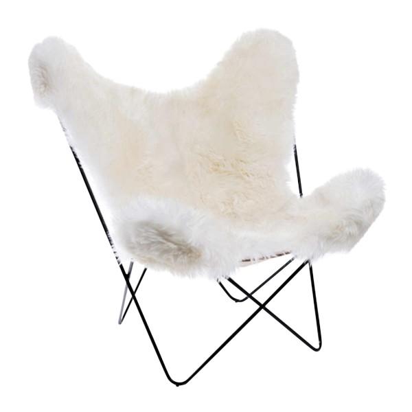 Manufaktur Plus Hardoy Butterfly Chair Schaffell Sessel 371_HBC_SCHAFFELL