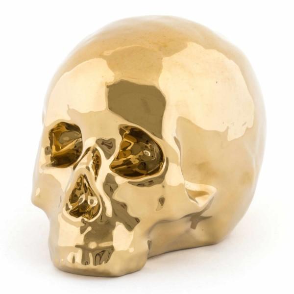 SELETTI Memorabilia Gold My Skull Skulptur 379_10415