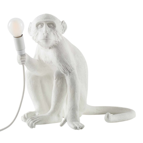 SELETTI Monkey Lamp White LED Leuchte 379_148XX-W