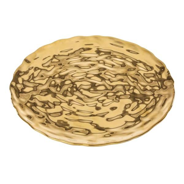 SELETTI Memorabilia Gold Dish Teller 379_16415