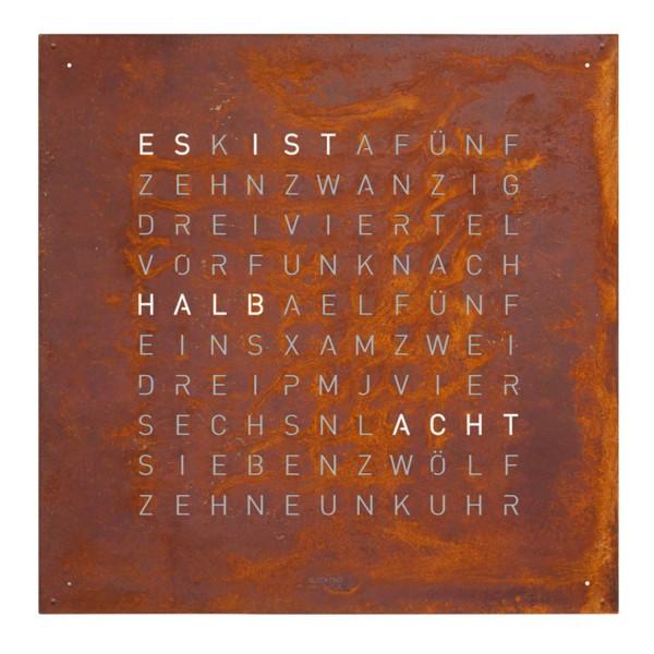 Biegert and Funk QLOCKTWO 180 Creators Edition Rust Wanduhr 83_180-CE-RU