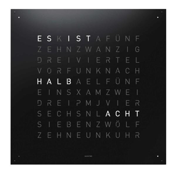 Biegert and Funk QLOCKTWO Large Edelstahl Wanduhr 83_LARGE