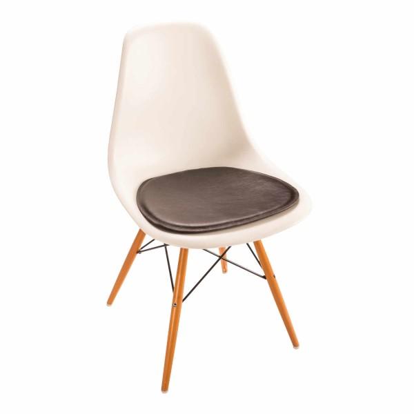 Parkhaus Eames Side Chair Leder/Filz Sitzkissen 88_SFC-3014