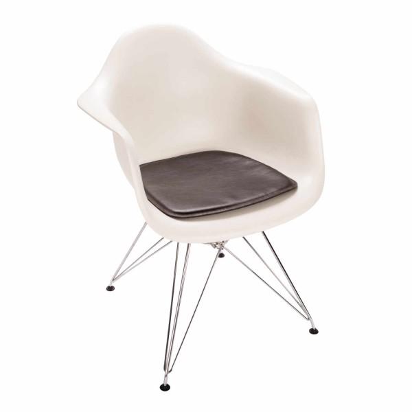 Parkhaus Eames Arm Chair Leder/Filz Sitzkissen 88_SFC-3015