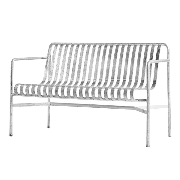 Hay Palissade Dining Bench Hot Galvanised Sitzbank 95_P-D-BENCH-HG